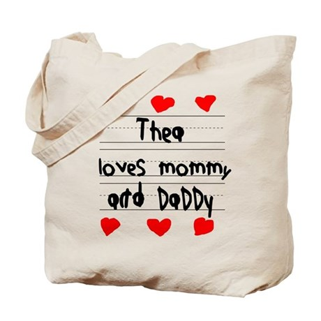 Thea Loves Mommy and Daddy Tote Bag