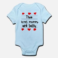 Thea Loves Mommy and Daddy Infant Bodysuit
