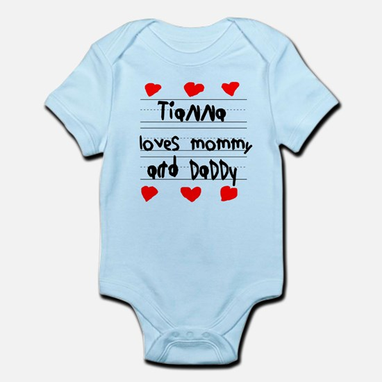Tianna Loves Mommy and Daddy Infant Bodysuit