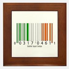 Barcode Irish Flag Framed Tile
