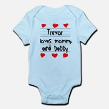 Trevor Loves Mommy and Daddy Infant Bodysuit
