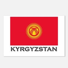 Kyrgyzstan Flag Stuff Postcards (Package of 8)