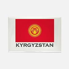 Kyrgyzstan Flag Stuff Rectangle Magnet