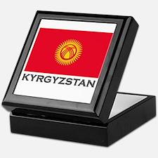 Kyrgyzstan Flag Stuff Keepsake Box