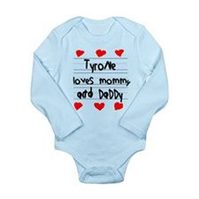 Tyrone Loves Mommy and Daddy Onesie Romper Suit