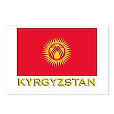 Kyrgyzstan Flag Gear Postcards (Package of 8)