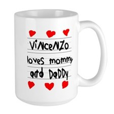 Vincenzo Loves Mommy and Daddy Mug