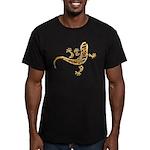 Cool Gecko 9 Men's Fitted T-Shirt (dark)