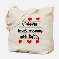Viviana Loves Mommy and Daddy Tote Bag