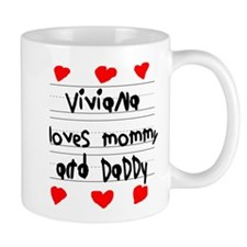 Viviana Loves Mommy and Daddy Small Mug
