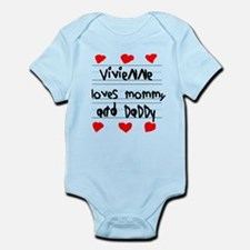 Vivienne Loves Mommy and Daddy Infant Bodysuit