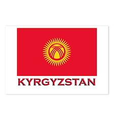 Kyrgyzstan Flag Merchandise Postcards (Package of