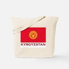 Kyrgyzstan Flag Merchandise Tote Bag