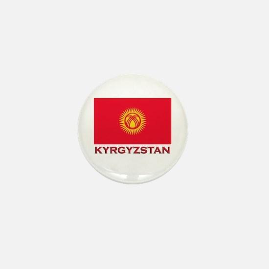 Kyrgyzstan Flag Merchandise Mini Button