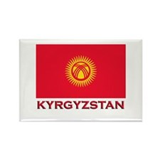 Kyrgyzstan Flag Merchandise Rectangle Magnet