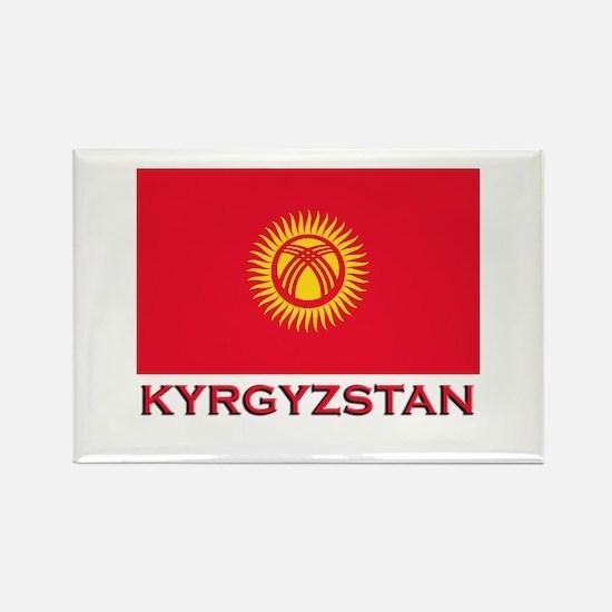 Kyrgyzstan Flag Merchandise Rectangle Magnet