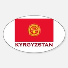 Kyrgyzstan Flag Merchandise Oval Decal