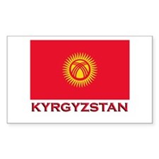 Kyrgyzstan Flag Merchandise Rectangle Decal