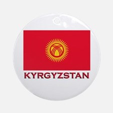 Kyrgyzstan Flag Merchandise Ornament (Round)