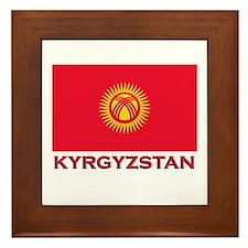 Kyrgyzstan Flag Merchandise Framed Tile