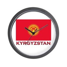 Kyrgyzstan Flag Merchandise Wall Clock