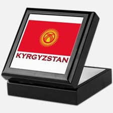 Kyrgyzstan Flag Merchandise Keepsake Box