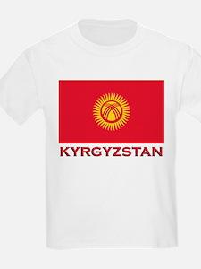 Kyrgyzstan Flag Merchandise Kids T-Shirt