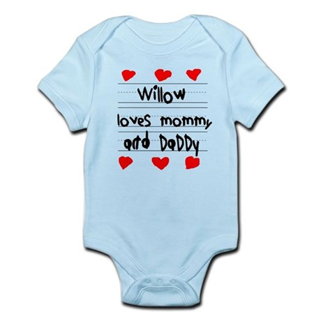 Willow Loves Mommy and Daddy Infant Bodysuit
