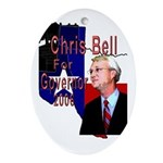 ChrisBell, TX GOV Oval Ornament