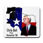 ChrisBell, TX GOV Mousepad