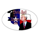 ChrisBell, TX GOV Oval Sticker