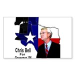 ChrisBell, TX GOV Rectangle Sticker