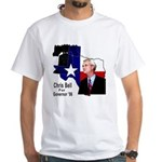 ChrisBell, TX GOV White T-Shirt