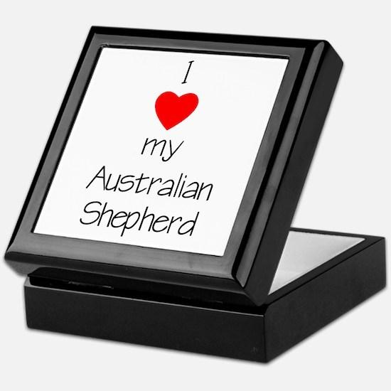 I Love My Australian Shepherd Keepsake Box