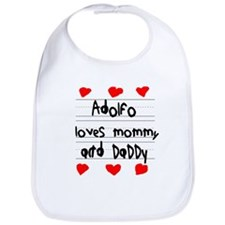 Adolfo Loves Mommy and Daddy Bib