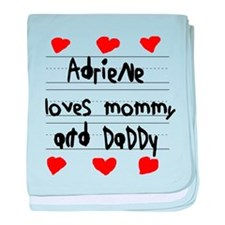 Adriene Loves Mommy and Daddy baby blanket
