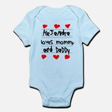 Alejandra Loves Mommy and Daddy Infant Bodysuit