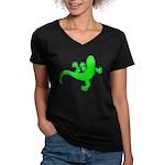 Cool Gecko 12 Women's V-Neck Dark T-Shirt
