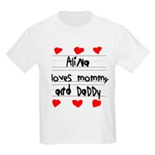 Alina Loves Mommy and Daddy T-Shirt