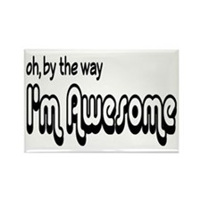 By The Way I'm Awesome Rectangle Magnet