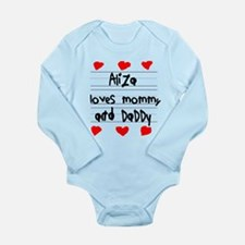 Aliza Loves Mommy and Daddy Long Sleeve Infant Bod