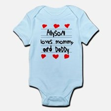 Allyson Loves Mommy and Daddy Infant Bodysuit