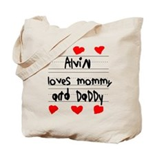 Alvin Loves Mommy and Daddy Tote Bag