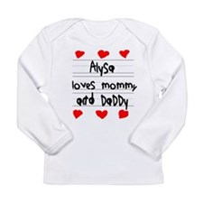 Alysa Loves Mommy and Daddy Long Sleeve Infant T-S