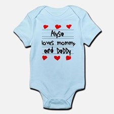 Alysa Loves Mommy and Daddy Onesie