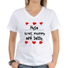 Alysa Loves Mommy and Daddy Shirt
