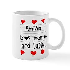 Amina Loves Mommy and Daddy Mug