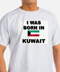 I Was Born In Kuwait Ash Grey T-Shirt