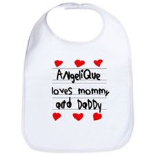 Angelique Loves Mommy and Daddy Bib