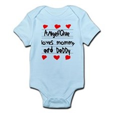 Angelique Loves Mommy and Daddy Infant Bodysuit